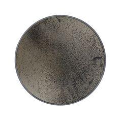 Großer Runder Antik wirkender Spiegel - Schwere Bronze