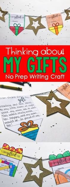 Looking for a fun Christmas or holiday craft that isn't all fluff? This writing activity is perfect for 3rd, 4th, and 5th grade and focuses students on identifying their talents and how they can share them this holiday season, An adorable bulletin board display that requires no prep is sure to be a winner in your classroom this Christmas season.
