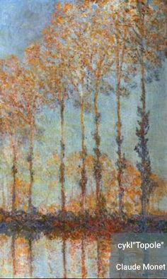 Name: Poplars on the Epte Artist: Clause Monet Date: 1891 In this image it shows a few trees at sunset by a lake. As well as other images by Claude i like the reflections he creates on the water, i also like the happy warm feel the image accentuates. Monet Paintings, Impressionist Paintings, Renoir, Joan Mitchell, Artist Monet, Tree Art, Canvas Art Prints, Les Oeuvres, Mary Cassatt