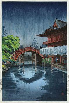 hanga gallery . . . torii gallery: Kameido Bridge by Tsuchiya Koitsu