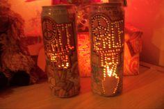 Peace Tea candle holder. I make art out of Peace Tea cans. https://www.facebook.com/canartbyashlee