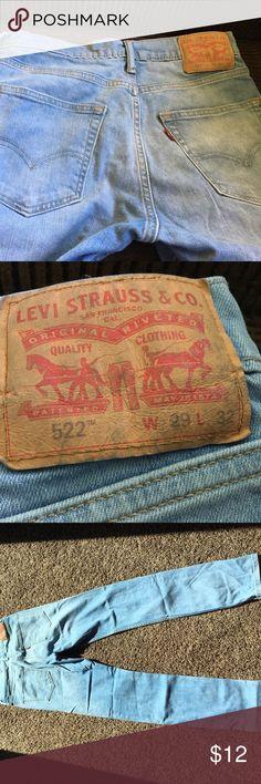 Men's Levi's Only worn 2 times!  Like new!  522 Levi's. 29w 32L Levi's Pants