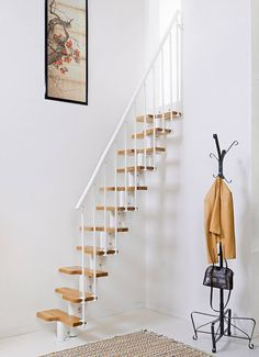 5 Complete ideas: Attic Apartment Industrial attic stairs in living room.Attic Bathroom Garage attic stairs in living room.Attic Stairs In Living Room. Space Saver Staircase, Small Staircase, Loft Staircase, Attic Stairs, House Stairs, Staircase Design, Staircases, Stairs To Loft, Modular Staircase