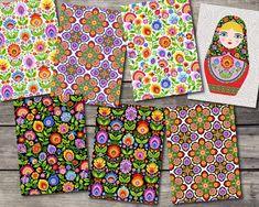 Wycinanki and Matryoshka Bright Floral Set of 7 Folk Style Blank Note Cards Traditional Polish Design Polish Folk Art, Folk Style, Papercutting, Folk Fashion, Hippie Art, Heart Art, Quote Prints, Botanical Prints, Note Cards