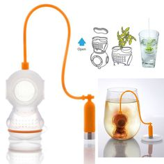 2015*Deep Tea leaf Infuser Diver Loose Strainer Bag Scuba teapot strainer Diving Filter Diffusers raspberry reading*hot
