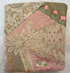 I ❤ crazy quilting . . . Needle Book 08, Needle Book commission 2008 ~By Crazybydesign