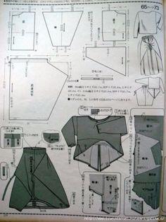 Womens dress pattern free boho New ideas Japanese Sewing Patterns, Sewing Patterns Free, Clothing Patterns, Dress Patterns, Free Pattern, Apron Patterns, Pola Rok, Pattern Cutting, Pattern Making