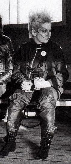 Jordan wearing Vivienne Westwood SEDITIONARIES clothing