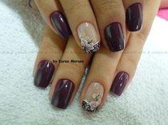 unhas decoradas - Pesquisa Google Glitter Gel Nails, Bling Nails, Toe Nail Art, Toe Nails, Nail Art Photos, Bridal Nail Art, Bright Nails, Pretty Nail Art, Beautiful Nail Designs