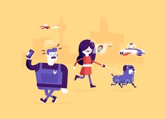 Illustrations accompanying an article about the new professional. The article explains the importance of being more allround in the future, and constantly keeping up-to-date with the latest technology.
