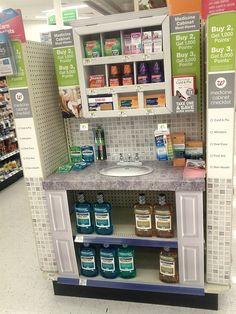"""Medicine Cabinet"" end cap at a Walgreens in Mt. Prospect, IL"