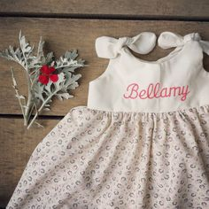 Monogrammed dress Cotton Dress coming home by ShelbyJaneandCo