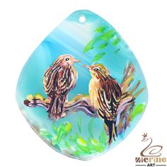 Fashion Pendant Hand Painted bird Natural Gemstone  necklace ZL800984 #ZL #Pendant
