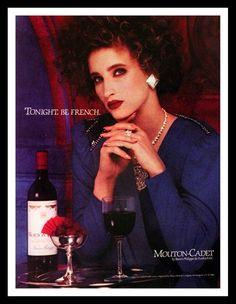 1986 Mouet Cadet Wine Ad - by Baron Philippe de Rothschild - Wall Art - Home Decor - Retro Vintage Advertising