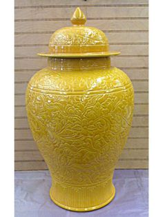 Whether you use one temple jar or pair them up, just make sure that you add them to your tool box of decorating must-haves. Asian Accessories And Decor, Porcelain Ceramics, Porcelain Skin, Porcelain Doll, Imperial Glass, Shades Of Yellow, Colour Yellow, Lemon Yellow, Ginger Jars