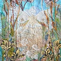 Fairy. In the long grasses #applique #skibbereen #workshops