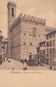 Firenze, Italy, Palazzo del Podesta -Vintage Postcard - Unused