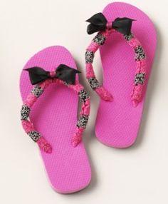 DIY Embellished Flip-Flops Craft