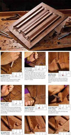 Linenfold Carving - Wood Carving Patterns and Techniques | WoodArchivist.com