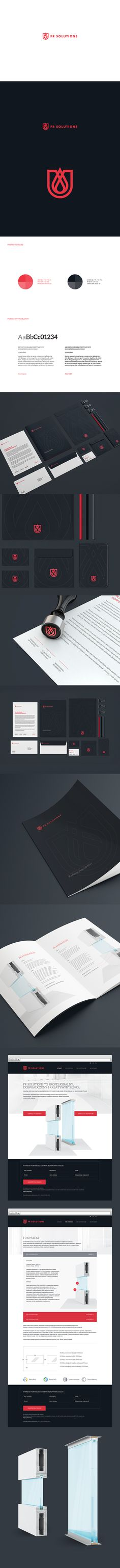 FR Solutions by Motyf, via Behance. A company specialising in fire resistant divisions used in construction.