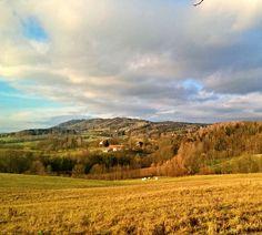 Kozákov hill, view from Veselá u Semil