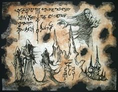 The Blind Dead Necronomicon Fragment occult horror by zarono