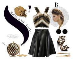 """Untitled #8"" by adina-elena-d on Polyvore featuring MSGM, Balmain, H&M, Paul Andrew and AeraVida"
