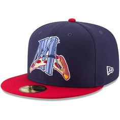 3878e9346da Men s Brooklyn Cyclones New Era Navy Red Authentic Collection On-Field 59FIFTY  Fitted Hat