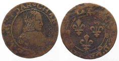 1637 Frankreich - Principauté d'Arches - Charleville Double Tournois CHARLES II…