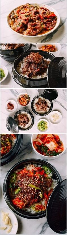 Bulgogi Bowl recipe by the Woks of Life / Try a twist: Bulgogi Burritos! Asian Recipes, Beef Recipes, Cooking Recipes, Korean Dishes, Korean Food, Asia Food, Bulgogi Recipe, Woks, Exotic Food