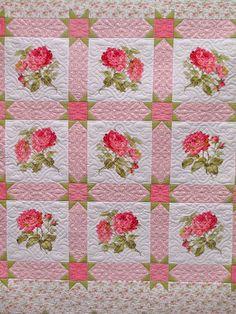 .I think I still have this rose fabric. I love Lakehouse fabrics.