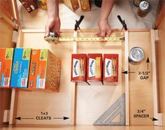 Building Organized Lower Cabinet Rollouts for Increased Kitchen Storage