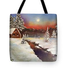 Art tote bag Christmas tote bag Christmas gift by Viktoriyasshop