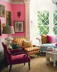 Someday to be so bold as to have a PINK room that doesn't belong to a child...