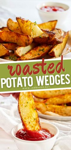 Simple is always the best and these Roasted Potato Wedges are the definition of simplicity. This amazing side dish is perfectly seasoned and the oven roasting process brings out their natural flavor to a whole new level! Serve this crispy and tender finger food on game day!