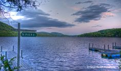 Candlewood Lake from Sherman, Connecticut.