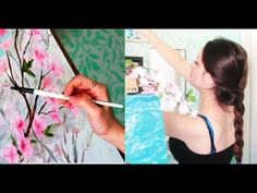 Painting Flowers And Decorating My Studio - YouTube