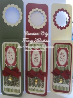 CHRISTMAS WINE BOTTLE GIFT TAGS/CARDS