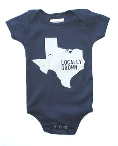 Someone needs to make this for babies and adults in Fayette County with a star next to your town :) And if you were born and raised here, it should be the cool shirt to wear.