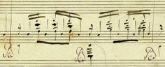 From Liszt's transcription of Isolde's Liebestod. The original engraver misrepresented the B-sharp as a D-sharp made superfluous by the key signature (not shown), resulting in errors in harmony in several early editions. Talk about accidentals… (G. Henle Verlag)