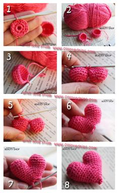 How to Knit Crochet Heart – Amazing Handmade Knitted Heart DIY - http://coloredtips.com/diy/how-to-knit-crochet-heart-amazing-handmade-knitted-heart-diy/