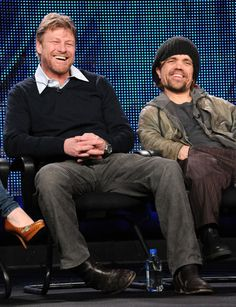 Actors Sean Bean and Peter Dinklage speak at the HBO Winter 2011 TCA Panel held at the Langham Hotel on January 2011 in Pasadena, California. Get premium, high resolution news photos at Getty Images Game Of Thrones Books, Game Of Thrones Cast, I Movie, Movie Stars, Sean Bean, Kings Game, Charming Man, Peter Lindbergh, Kate Winslet