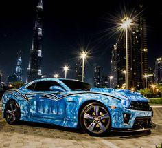 Only in Dubai  #ItsWhiteNoise #Chevrolet #Camaro @dubaimotoringevents
