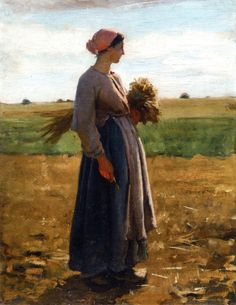 Young Woman in the Fields Jules Adolph Breton, 1864-1866