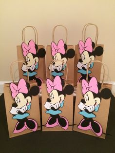 A personal favorite from my Etsy shop https://www.etsy.com/listing/246229818/6-minnie-mouse-favor-bags