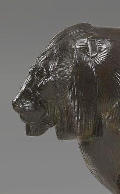 """** Rembrandt Bugatti (Italian 1884 - 1916), A. A. Hébrard, """"Lion et Lionne de Nubie"""" Detail, Patinated Cire Perdue Bronze."""