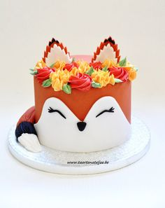 Fox cake for children& birthday. - Recipes & food inspiration for children . - Fox cake for children& birthday. – Recipes & Food Inspirations for Children – - Pretty Cakes, Cute Cakes, Beautiful Cakes, Amazing Cakes, Fox Cake, Cupcakes Decorados, Cute Desserts, Halloween Desserts, Fancy Cakes