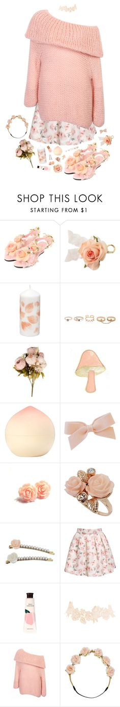 """peachy keen"" by sookii ❤ liked on Polyvore featuring LULUS, Tony Moly, Dorothy Perkins, Miss Selfridge, Charlotte Russe, Carole, cute, girly, kawaii and jfashion"