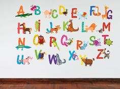Full Colour Animal Alphabet Kids Wall Decal  by TheWallStickerComp