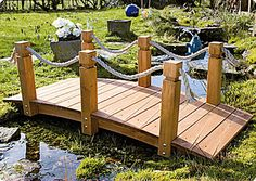 The Highlight For Your Garden - Bridge With Hand Rack